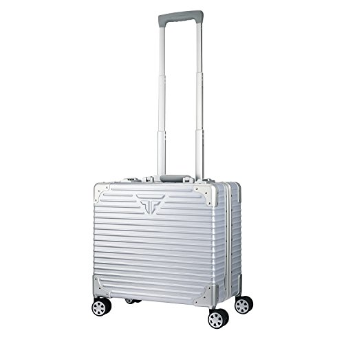 TABITORA(タビトラ) スーツケース 小型 超軽量 アルミフレーム キャリーバッグ 機内持ち込み ビジネス旅行 出張 TSAロック 静音 8輪 (ビジネスキャリーバッグ, 銀)