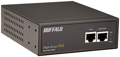『BUFFALO ハイパワー PoEインジェクター 1CHモデル BIJ-POE-1P/HG』のトップ画像