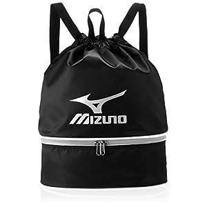 MIZUNO(ミズノ) プールバック 巾着タイプ 11L 85DK303 L27cm×W15cm×H38cm ブラック