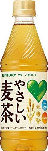 『サントリー GREEN DA・KA・RA(グリーンダカラ) やさしい麦茶 435mlペット (VD用) 24本入』のトップ画像