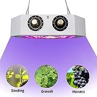 1000W LED COB植物育成ライト、調光可能フルスペクトルデュアルチップ植物成長ライト屋内テント野菜花苗植物ライト,白