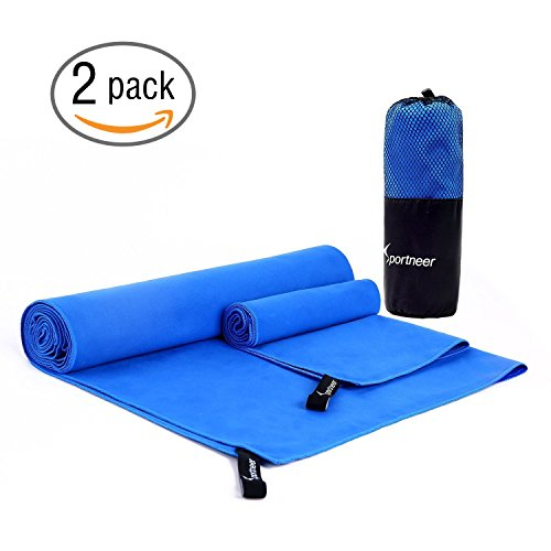 速乾タオル 冷却タオル 運動タオル 軽量 速乾 超吸水 UVカット 熱中症対策 猛暑を対策に ブルー