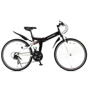 DOPPELGANGER(ドッペルギャンガー) 701 RPM 26インチ マウンテンバイク 折りたたみ自転車【軽量アルミフレーム】シマノ 21段変速 MTB【前後サスペンション】LEDライト/鍵/泥除け/スタンド付 X-ROUNDシリーズ