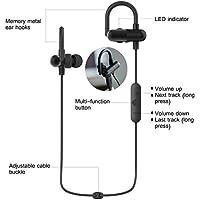 28Fox Bluetoothワイヤレススポーツヘッドフォン、実行防水ステレオノイズキャンセリングイヤホンヘッドセットイヤホンマイク付きIphone、iPad、Androidスマートフォン、およびすべてのBluetooth対応デバイス用