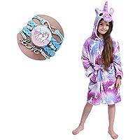 Kid Robe Bathrobe Hooded Dressing Gown Pajamas Kids Soft Unicorn Hooded Bathrobe Sleepwear Unicorn Gifts (Size : 6-8 Years)