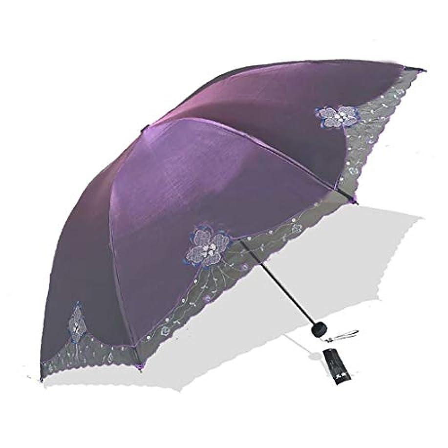 十一市民権歴史的黒いプラスチック傘ライトレース傘日傘傘日保護紫外線傘折りたたみ傘 (色 : D)