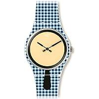 Swatch Women's SUOW118 Moitié-Moitié Year-Round Analog Quartz Blue Watch