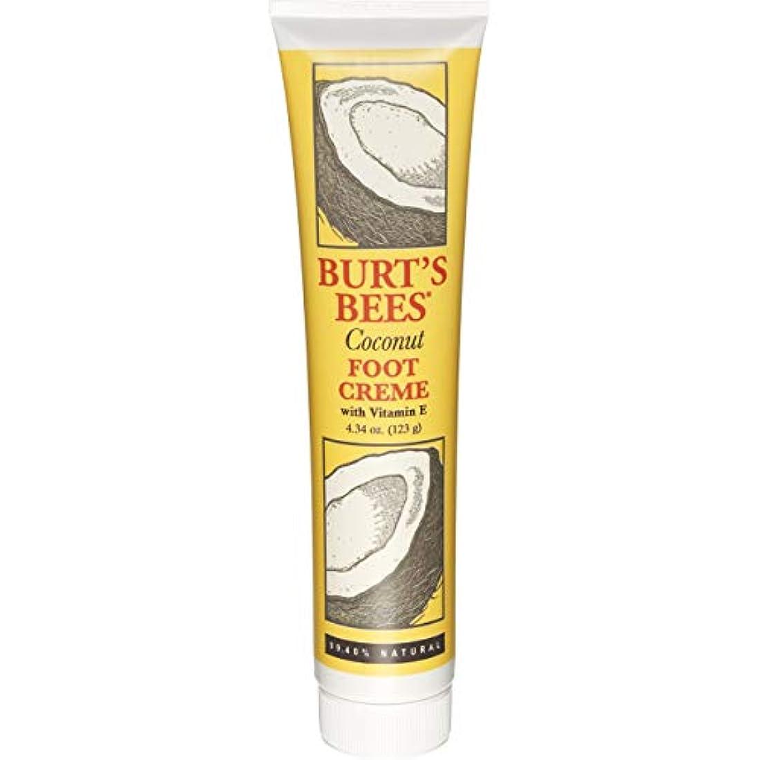 穴普通に集団Burt's Bees, Coconut Foot Creme 4oz by Burt's Bees