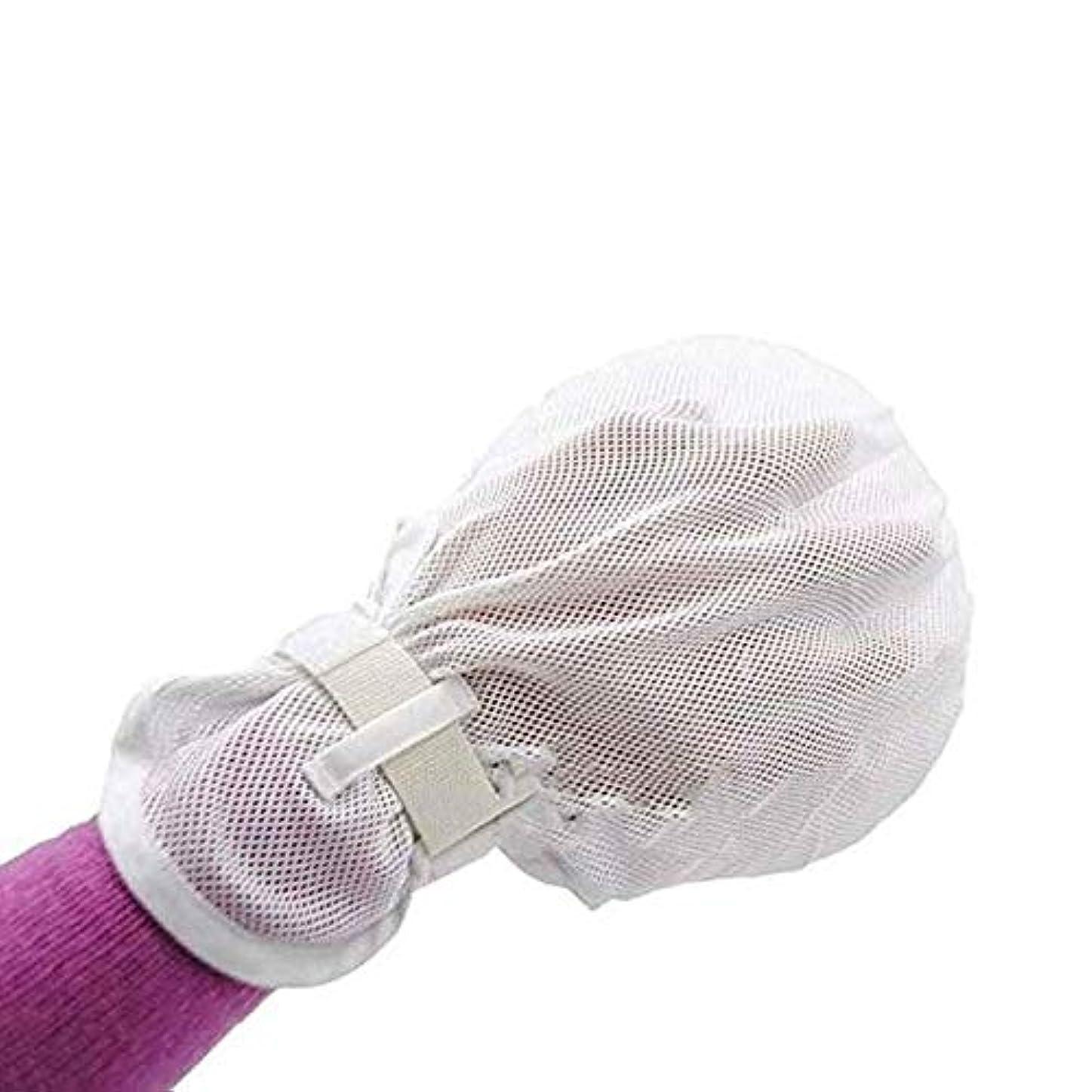 カール暴行食料品店冷却ネット保護パッド、調節可能な手首、指の怪我を防ぐフィンガーコントロールグローブハンド 手袋、保護内側の傷防止パッド(1ペア)