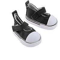 Lovoski シンプル キャンバス製 ベルクロ フラット シューズ  カジュアル 靴 1/6 BJD SD BB女の子人形用  アクセサリー 全9色選べる  - クリーム