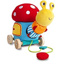 Little Bird Told Me ToadstoolアクィビティPull Along幼児用おもちゃ