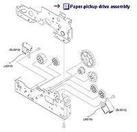 Paper Pickup Drive Assembly