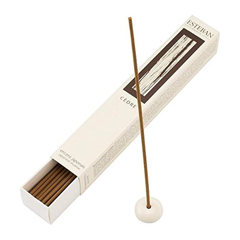 レベル咽頭目の前のEsteban Cedre 日本製お香スティック 40本