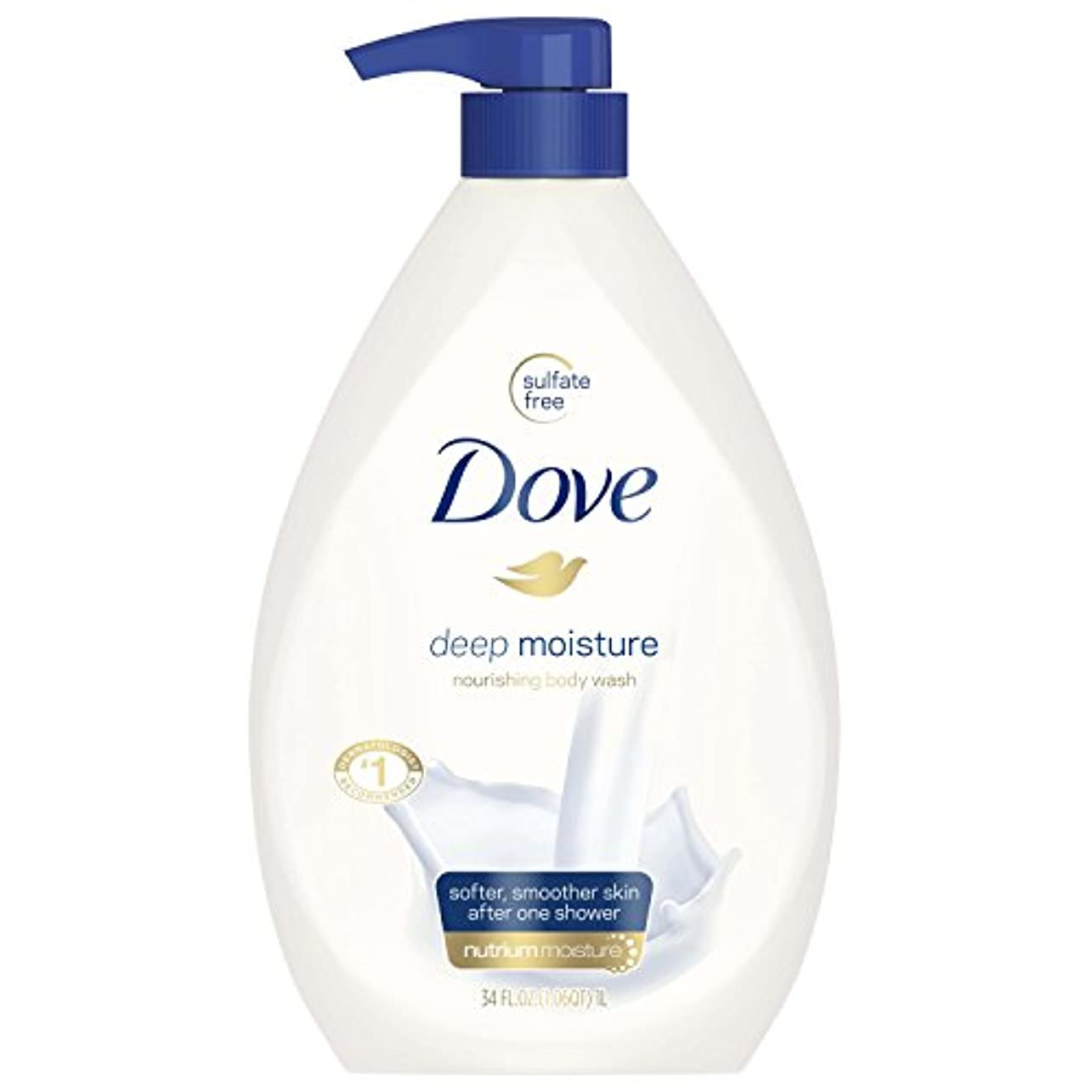 摩擦合成愛するDove Body Wash, Deep Moisture Pump 34 Ounce by Dove