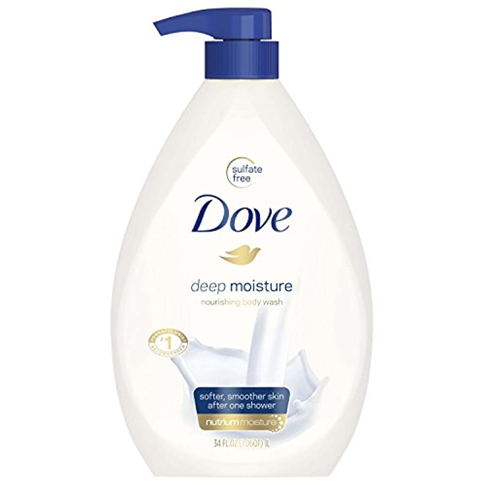 むちゃくちゃ崖亡命Dove Body Wash, Deep Moisture Pump 34 Ounce by Dove
