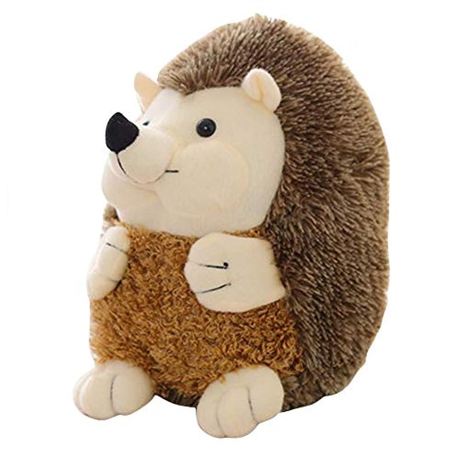 見つけた襟羊の服を着た狼ラブリーソフトハリネズミ動物人形かわいいぬいぐるみシミュレーション動物のおもちゃ子供たちがなだめる人形家の装飾 - グレー-1サイズ