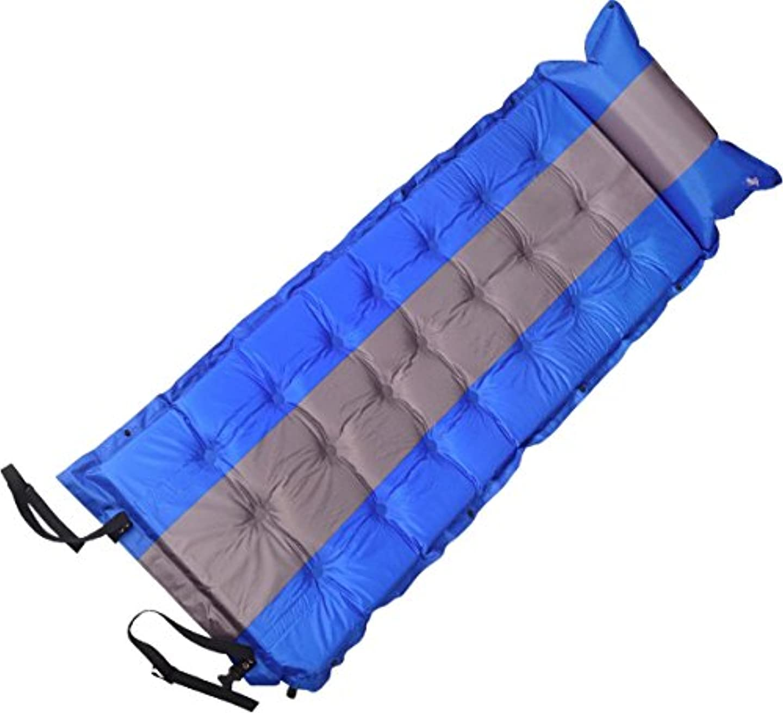 解凍する、雪解け、霜解け縮約綺麗な極厚5cm エアー マット カンタン 自動膨張式 コンパクト収納袋 付き 複数 連結 可能 21点式