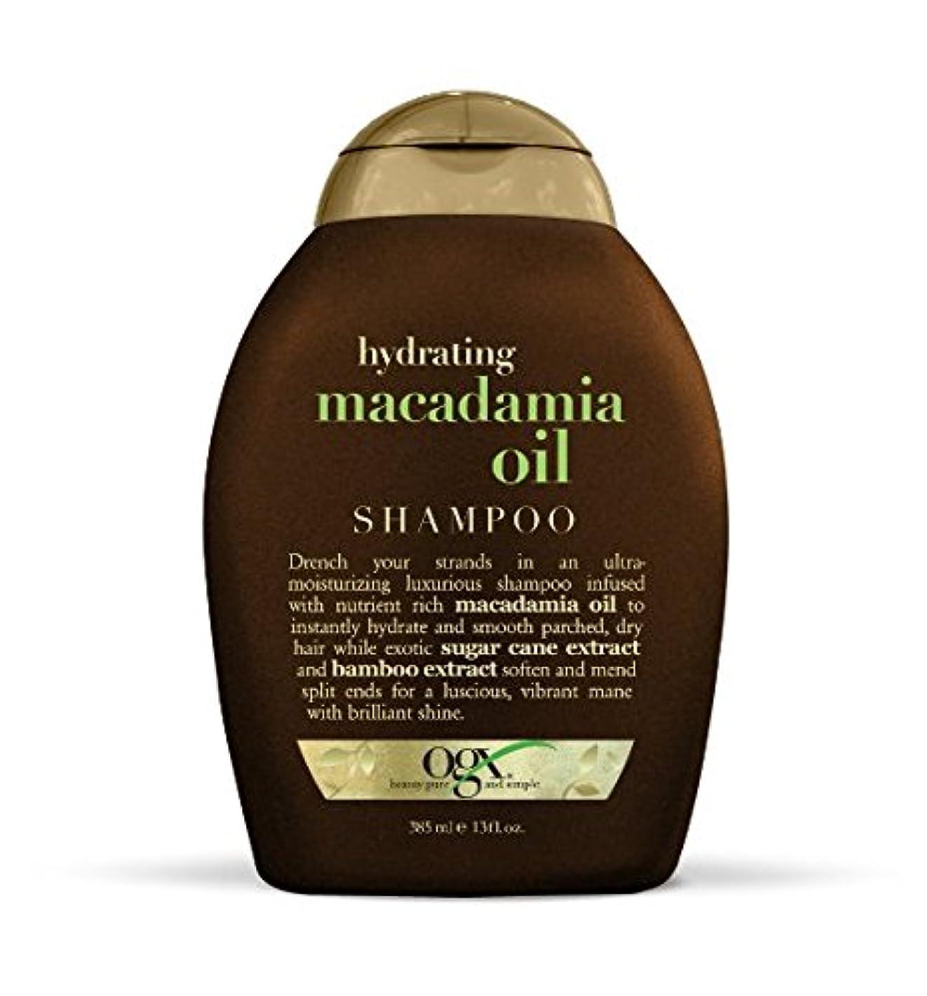 曲がった汚染されたそんなにOGX Sulfate Free Hydrating Macadamia Oil Shampoo 360ml ハイドレイティングマカダミアオイルシャンプー [並行輸入品]