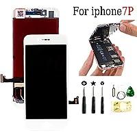 passionTR for iPhone7 Plus フロントパネル ガラスデジタイザ 液晶パネル タッチパネル 交換用 修理工具セッ白 PLUS 5.5インチ