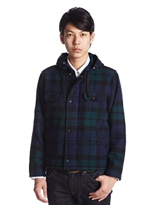 Insulated Short Jacket JS11-004: Black Watch