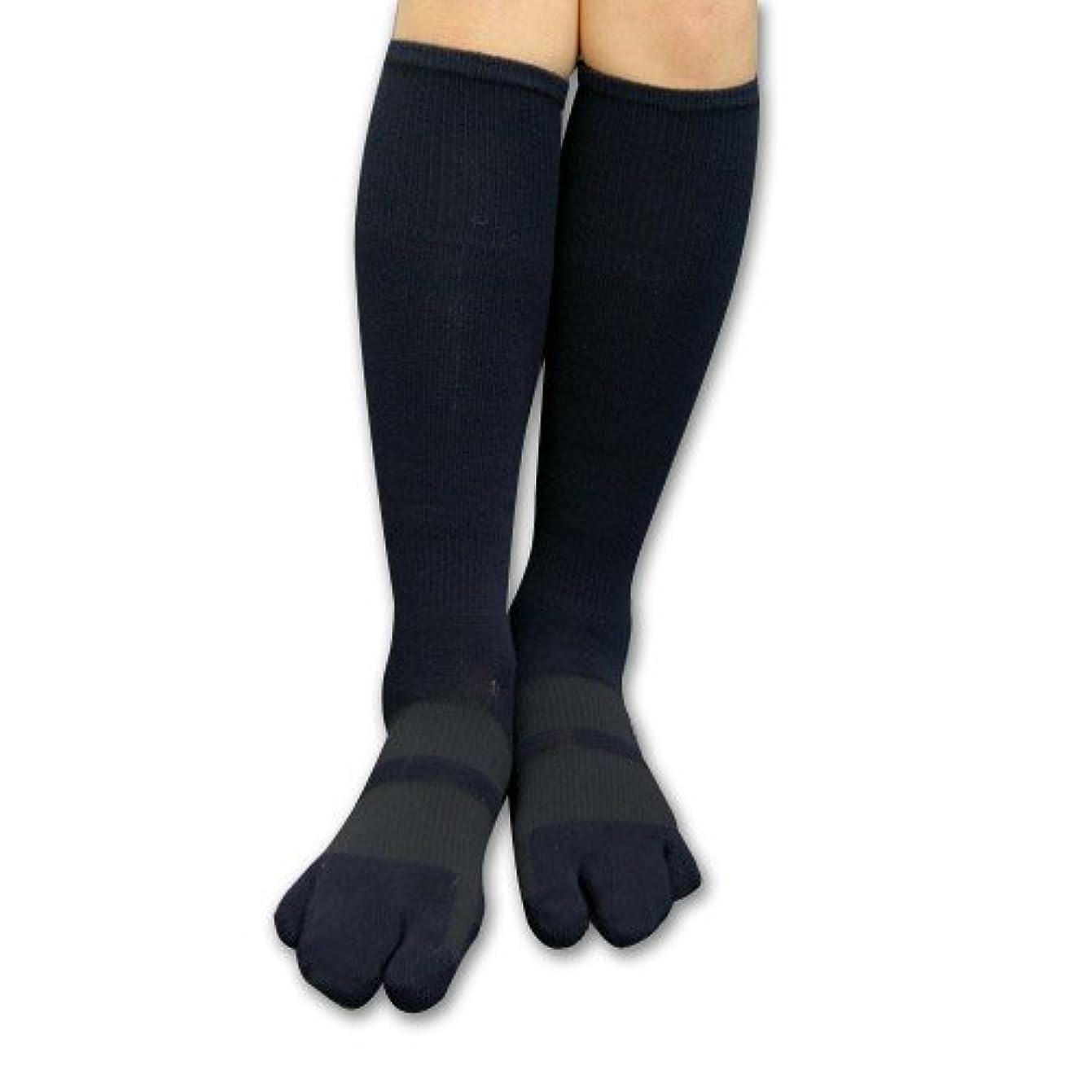 人種フォーカスフロンティアカサハラ外反母趾?浮き指対策 歩行矯正ロングテーピング3本指靴下 (L(24-26cm))