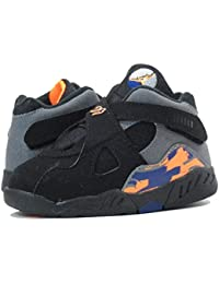 [ナイキ]NIKE AIR JORDAN 8 RETRO TD BLACK/GREY/ORANGE [並行輸入品]