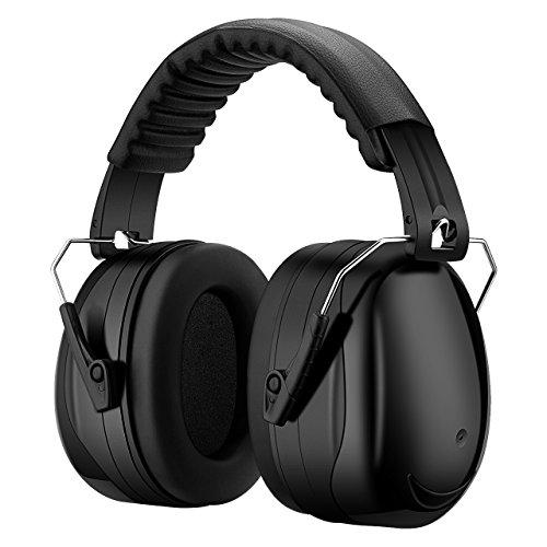 Patech 防音イヤーマフ ヘッドホン 遮音値34dB ANSI S3.19/CE EN521認証済み 聴覚過敏 噪音対策 ブラック