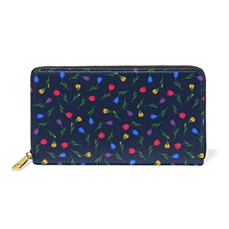 財布 レディース 長財布 大容量 かわいい 花柄 幾何学模様 おしゃれ きれい ファスナー財布 ウォレット 薄型 本革 型押し 小銭入れ プレゼント用