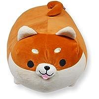JEMA ジェマ 抱き枕 犬 アニマルクッション ぬいぐるみ もちもち ふわふわ 柔らか 可愛い プレゼント用 ブラウン