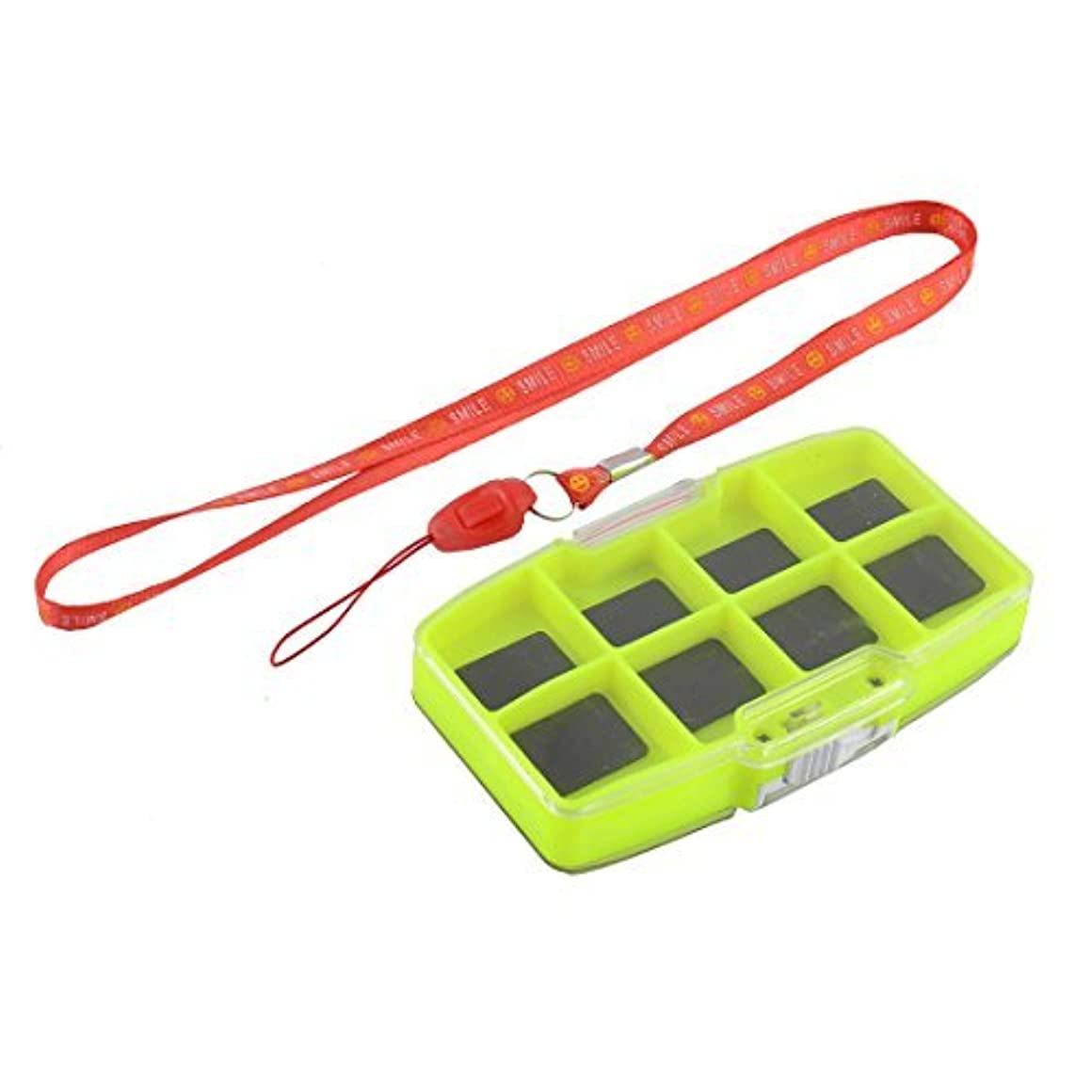 わかる共産主義こだわりDealMuxプラスチック釣り磁気デュアルサイドフィッシュフックベイト釣り針ボックスケースグリーン