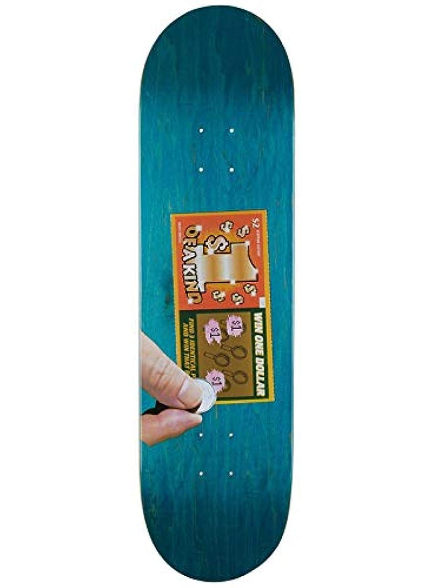 劣る腹痛ダースSkate Mental Green Kleppan Scratcher スケートボードデッキ 8.375インチ (デフォルト、グリーン)
