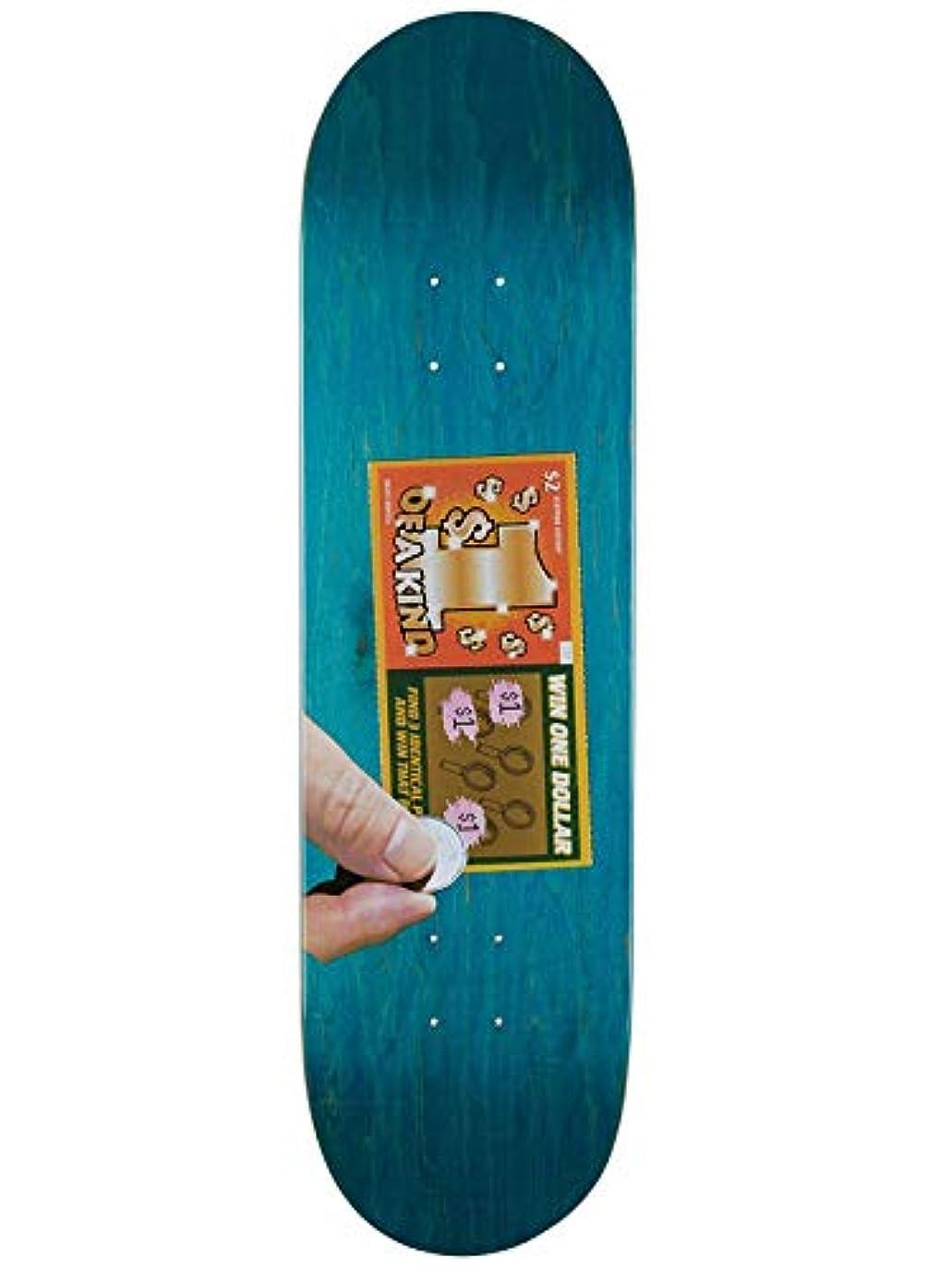 円周フェードアウト努力Skate Mental Green Kleppan Scratcher スケートボードデッキ 8.375インチ (デフォルト、グリーン)