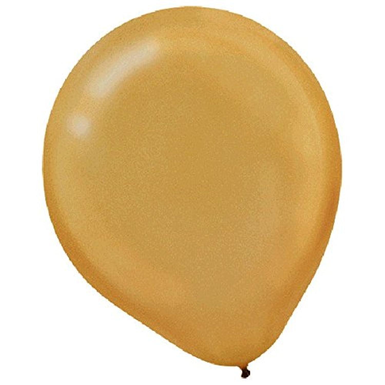 パールラテックスバルーンカラーテーマパーティー装飾、ゴールド、12、