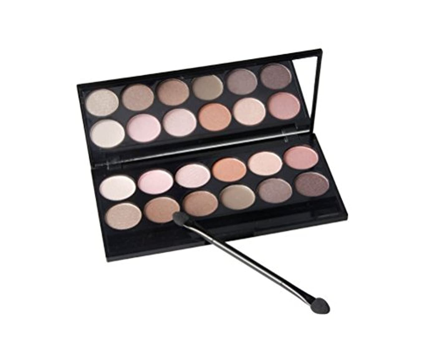 耐える関係ない同時MakeupAcc アイシャドウパレット 12色 マット ピンク ヌード色 ブラウン スモーキー色 アイシャドー棒と化粧鏡付き [並行輸入品]