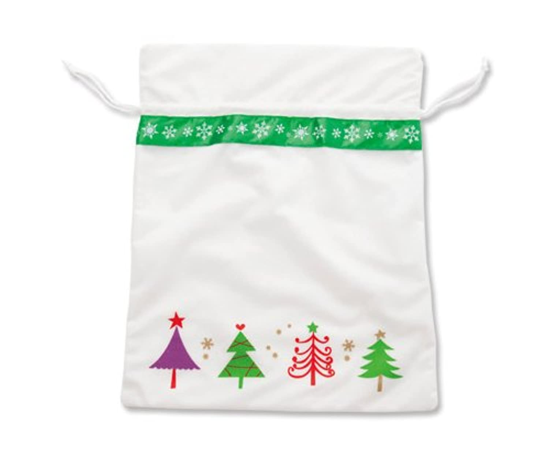 クリスマス小物シリーズ Xmas北欧サンタ袋 40㎝×50㎝