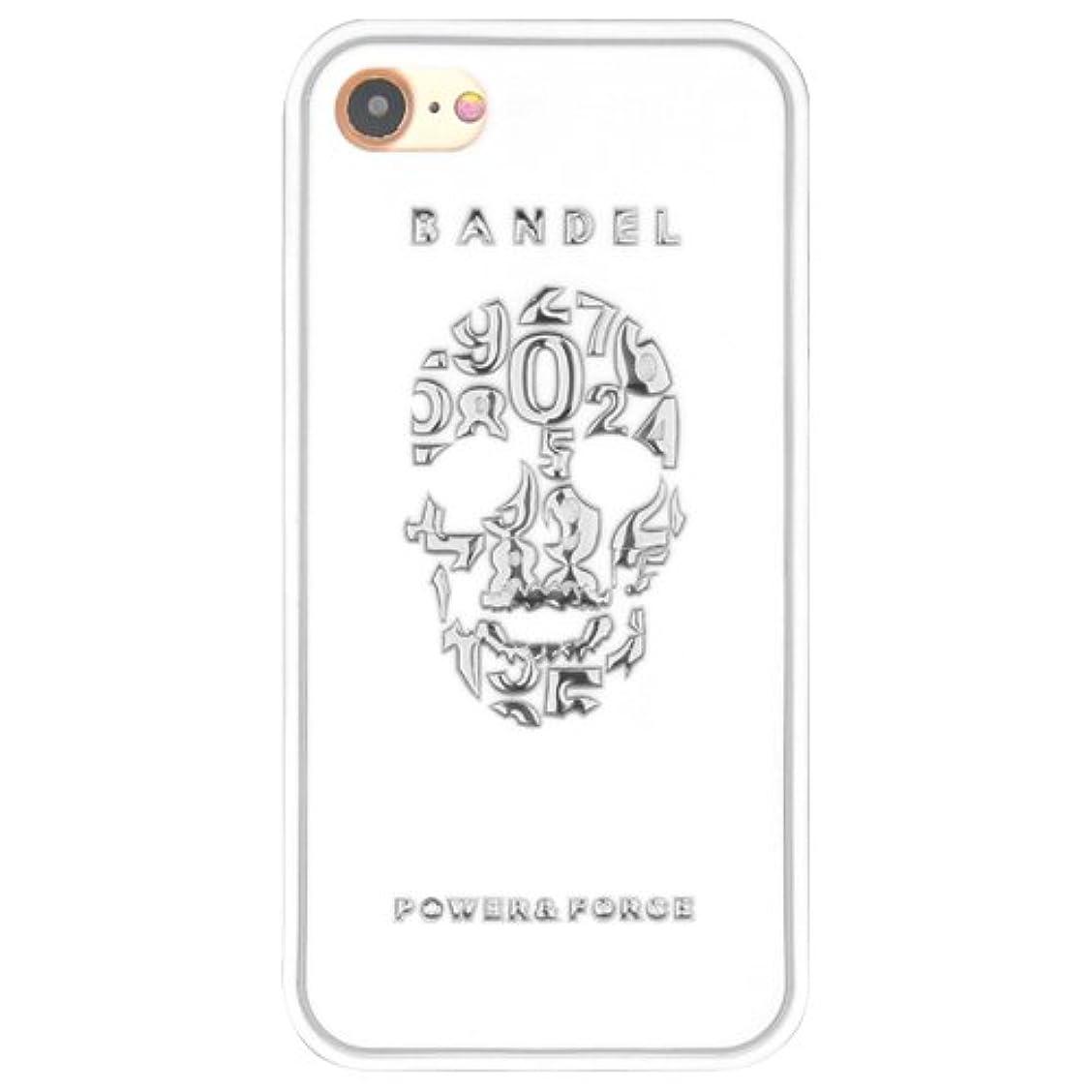 ストレッチ美的増強するバンデル(BANDEL) スカル iPhone 8専用 シリコンケース [ホワイト×シルバー]