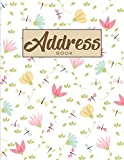 Address Book: An Alphabetical Large Address Book For Record and Organize Contact Doodle Flower