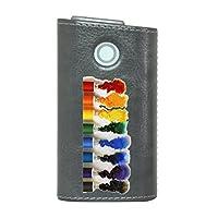 glo グロー グロウ 専用 レザーケース レザーカバー タバコ ケース カバー 合皮 ハードケース カバー 収納 デザイン 革 皮 GRAY グレー ユニーク えのぐ カラフル 001538