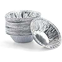 Calloy エッグタルト カップ 円形エッグタルト キッチンベーキング用 スイーツ 使い捨てアル 250個