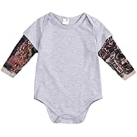 YOUNGER TREE Toddler Baby Boy Girl Bodysuit Tattoo Sleeve One-Piece Romper Jumpsuit Halloween Outfit Costume Gift 0-24M