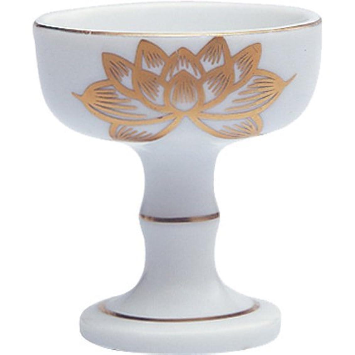 矩形怒り道を作る仏器 陶器(白磁)