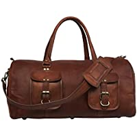 Large Leather Luggage Duffel Overnight Sports 21 Inch Airplane Cabin Bag