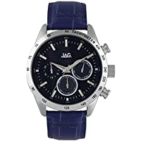 Jag Mens Blue Face Chronograph Watch J2165 Leather|Stainless Steel 3 Hands|Chronograph J2165