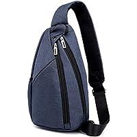 FTSUCQ Mens Chest Shoulder Crossbody Hiking Backpack Sport Bicycle Rucksack Handbag School Daypack