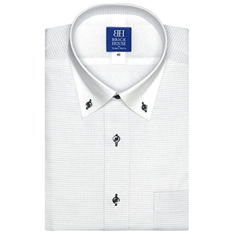 泥かなりの混乱ブリックハウス ワイシャツ 半袖 形態安定 メッシュインナー ボットーニ ボタンダウン 新体型 メンズ BM018200AB45V3M-30