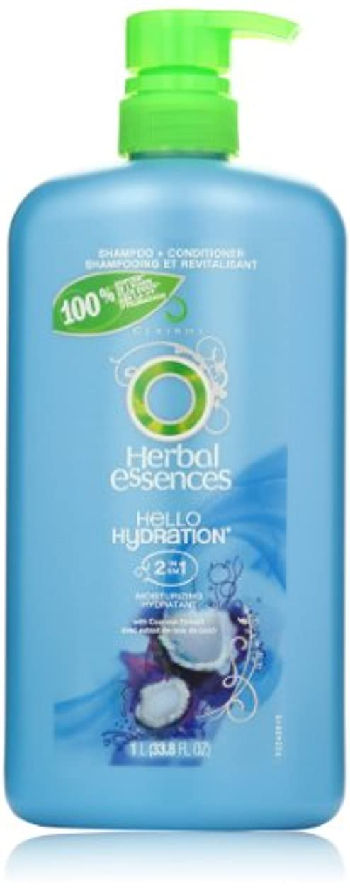 通貨なぜならはっきりとHerbal Essences Hello Hydration 2-In-1 Moisturizing Hair Shampoo & Conditioner With Pump 33.8 Fl Oz by Herbal...