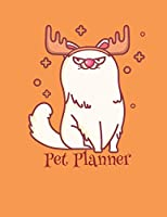 Pet Planner: Christmas Kitty Moose Pet Planner for Pet Owners and Pet Sitters