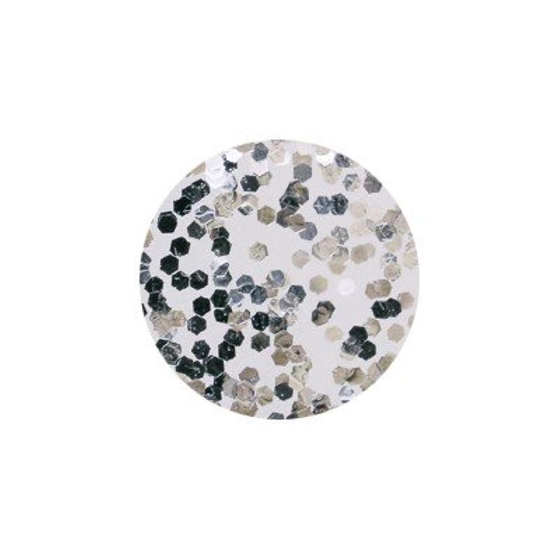 ピカエース ネイル用パウダー 六角メタリック 1mm #571 シルバー 0.5g