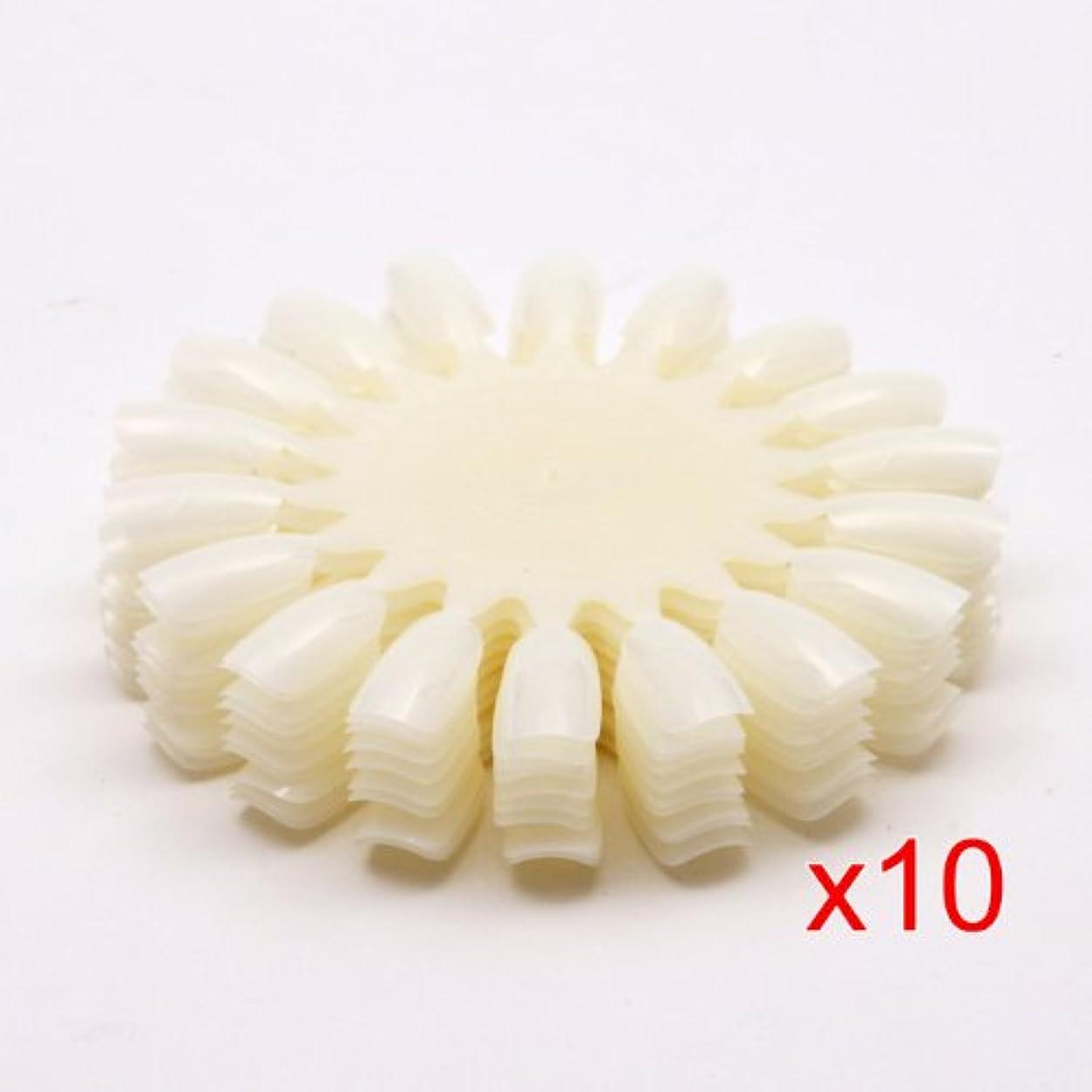 自発状況エイリアンACAMPTAR 10 xナチュラルな白いのネイルアートホイール