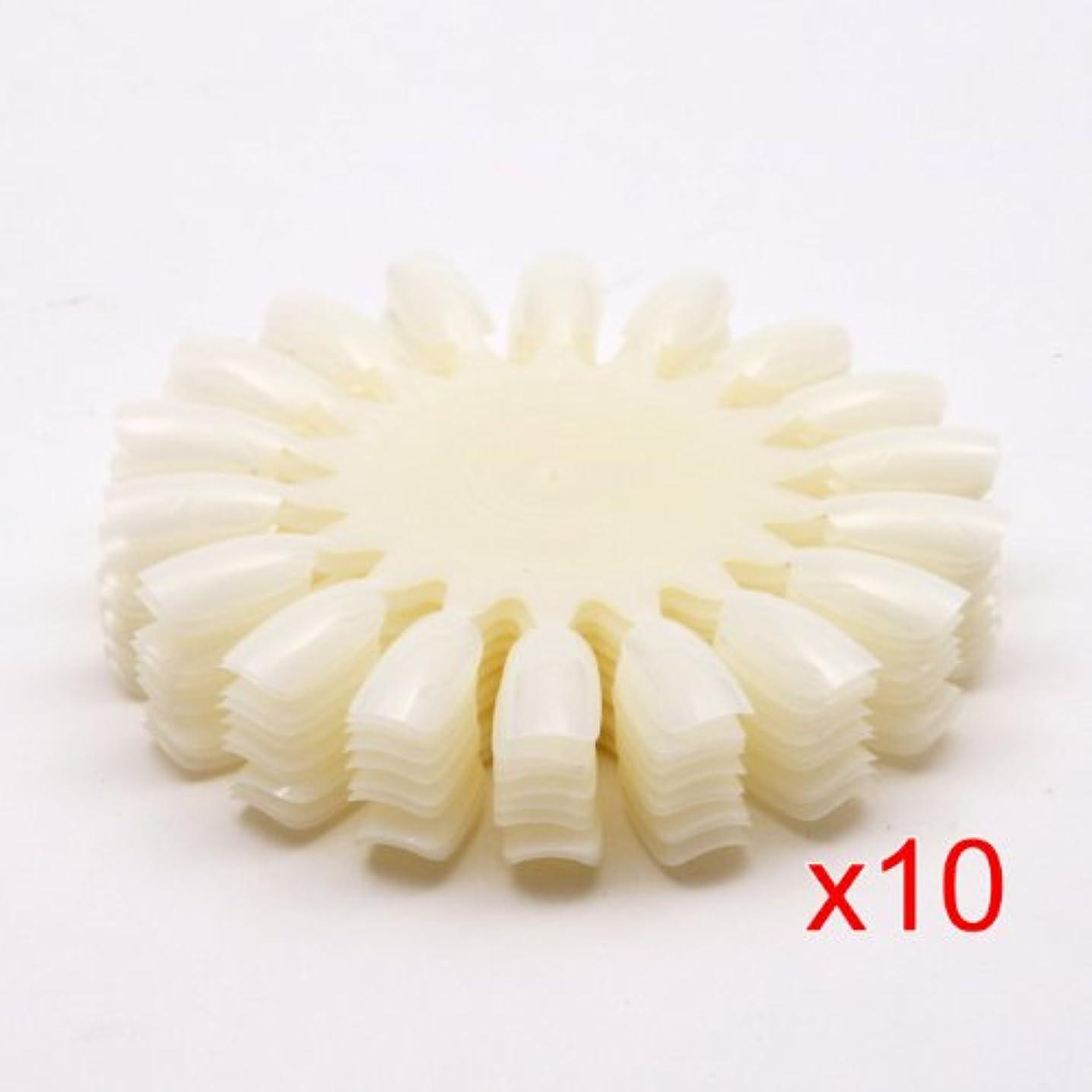 ベル大陸研磨剤Gaoominy 10 xナチュラルな白いのネイルアートホイール